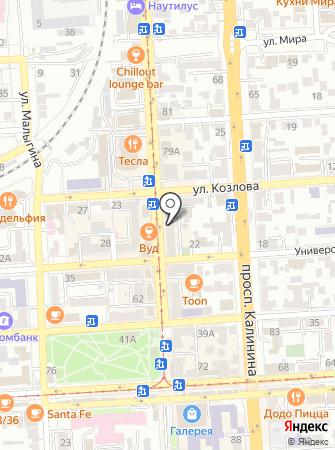 Элеганс на карте