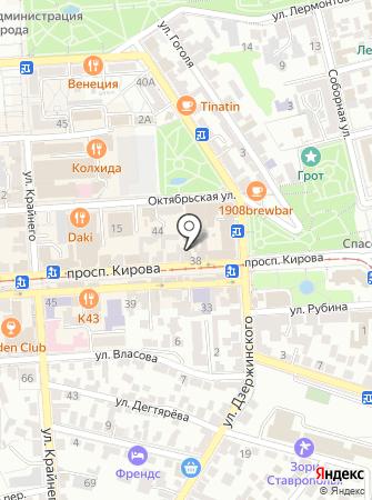 Петербургский стиль на карте