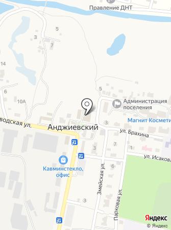 Анджиевский культурно-досуговый комплекс на карте