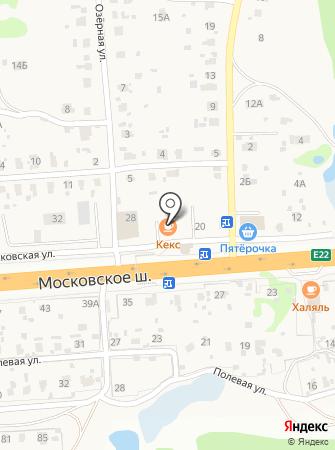 Кекс на карте