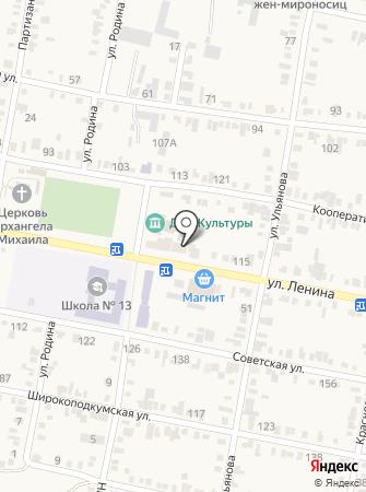Молодежный центр на карте
