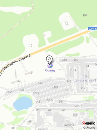 АЗС на Заревской объездной на карте