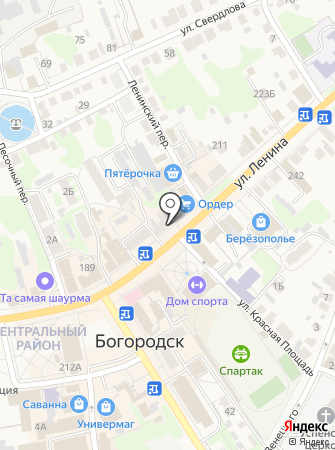 Лапоток на карте
