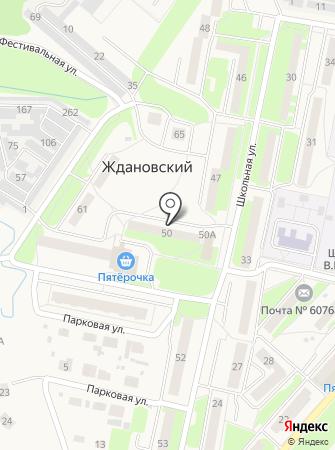Ждановский отдел полиции на карте