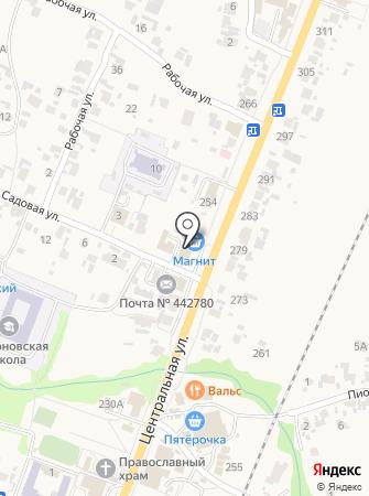 Уголок на карте