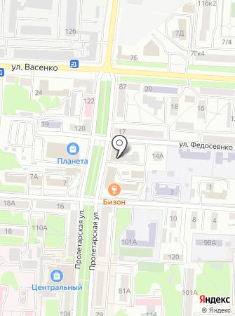 Мордовский на карте