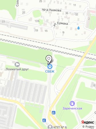 Станция по борьбе с болезнями животных г. Заречного на карте