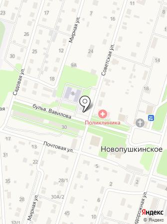 Детский сад пос. Новопушкинское на карте