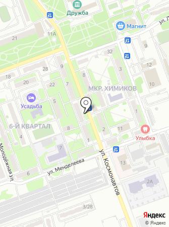 Киоск хлебобулочных изделий на карте
