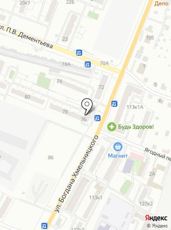 Лапушка на карте