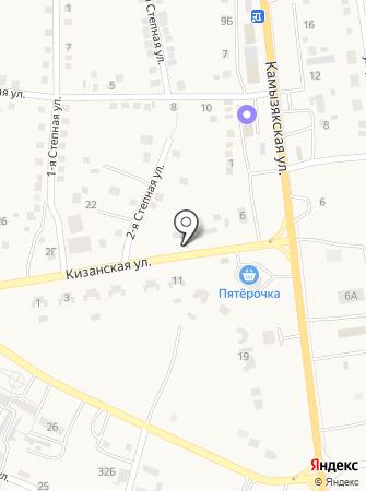 Продуктовый магазин на Кизанской на карте
