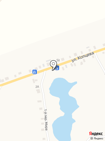 Озерный на карте