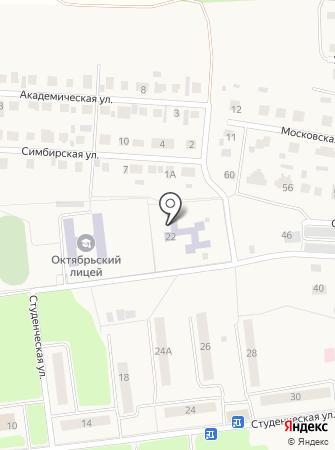 Октябрьский детский сад, Василек на карте