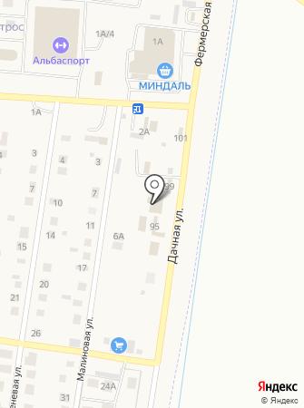Автомойка на Дачной на карте
