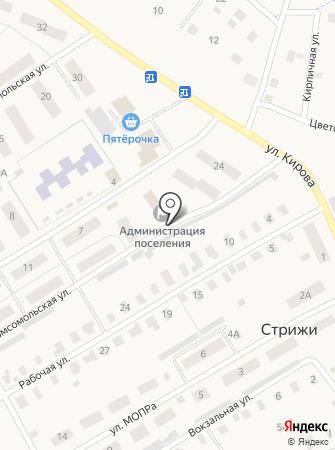 Администрация Стрижевского городского поселения на карте