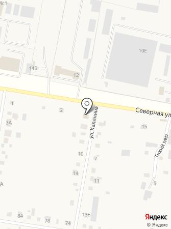 Магазин продуктов на ул. Калинина на карте