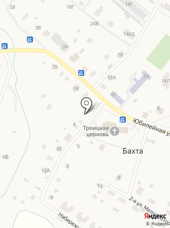 Отделение почтовой связи с. Бахта на карте