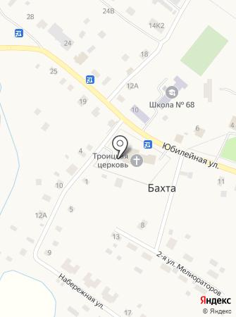 Приход Троицкой церкви с. Бахта на карте