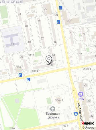 Мегалайн на карте