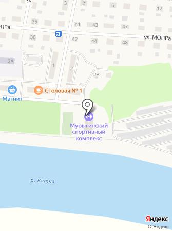 Мурыгинский спорткомплекс, МКУ на карте