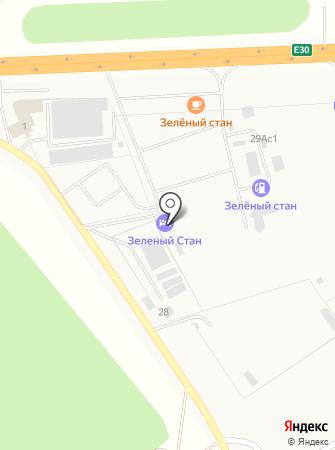 Зеленый стан на карте