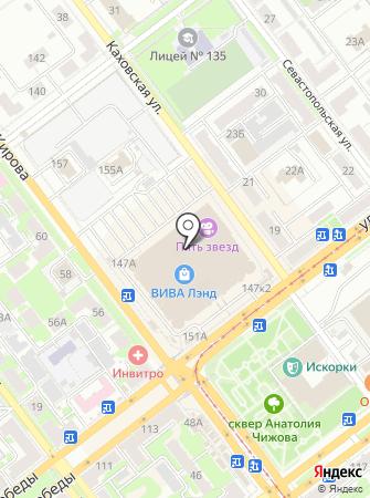 Магазин шапок на карте