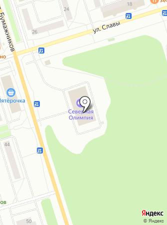 Эжвинская ледовая арена на карте