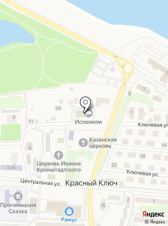 Исполнительный комитет Красноключинского сельского поселения на карте