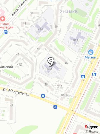 Детский сад №35, Незабудка на карте