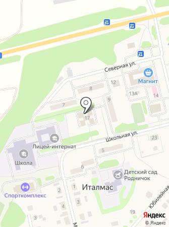 Администрация муниципального образования Италмасовское на карте