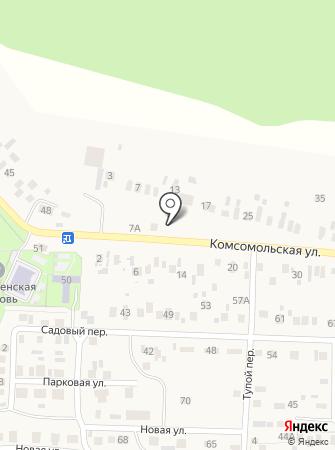 Парикмахерская на Комсомольской на карте