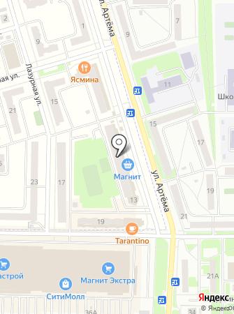 Рощинский на карте