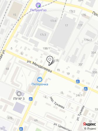 Автостоянка на ул. Менделеева на карте