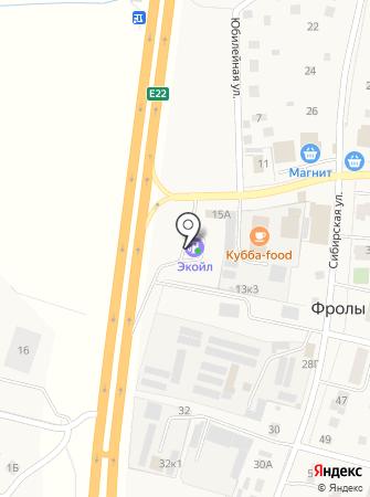 АЗС Minol на карте