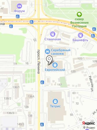 Табакерка на карте