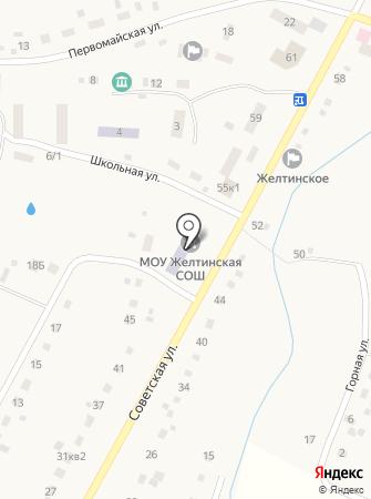 Желтинская средняя общеобразовательная школа на карте