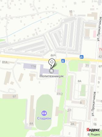 Академия безопасности предпринимательства, ЧОУ на карте