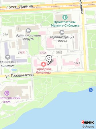 Демидовская городская больница на карте