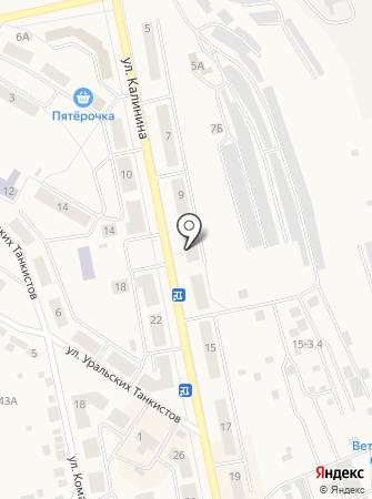 Уральский на карте