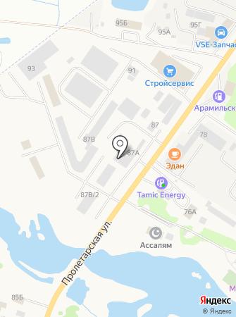 Эдан на карте