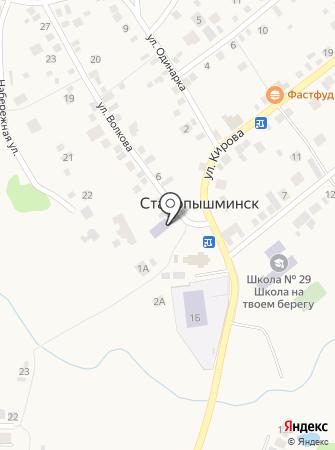 Центр творчества п. Старопышминска на карте