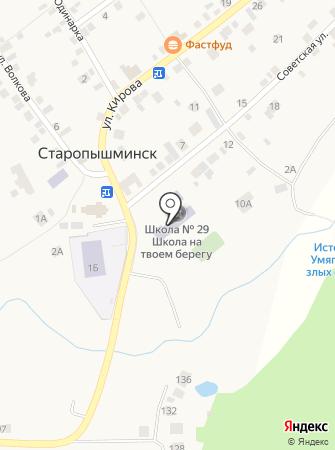 Средняя общеобразовательная школа №29 с дошкольным отделением на карте