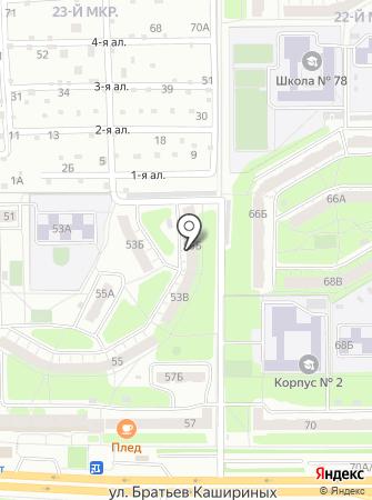 АСО на карте