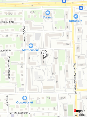Управление гражданской защиты г. Челябинска на карте
