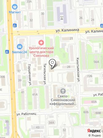 Пожарная часть Калининского района на карте