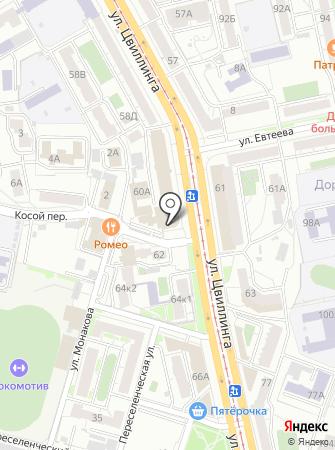 ЮУЖД на карте