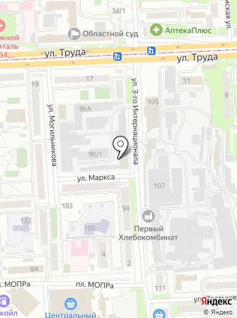 Кореец на карте