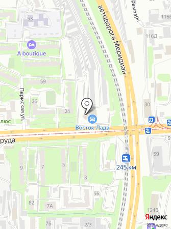 Восток-Лада на карте