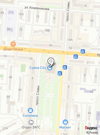 Сцена City на карте