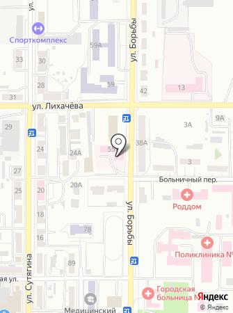 Станция скорой медицинской помощи г. Копейска на карте